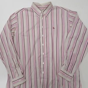 Burberry London Dress Shirt XL Logo Striped